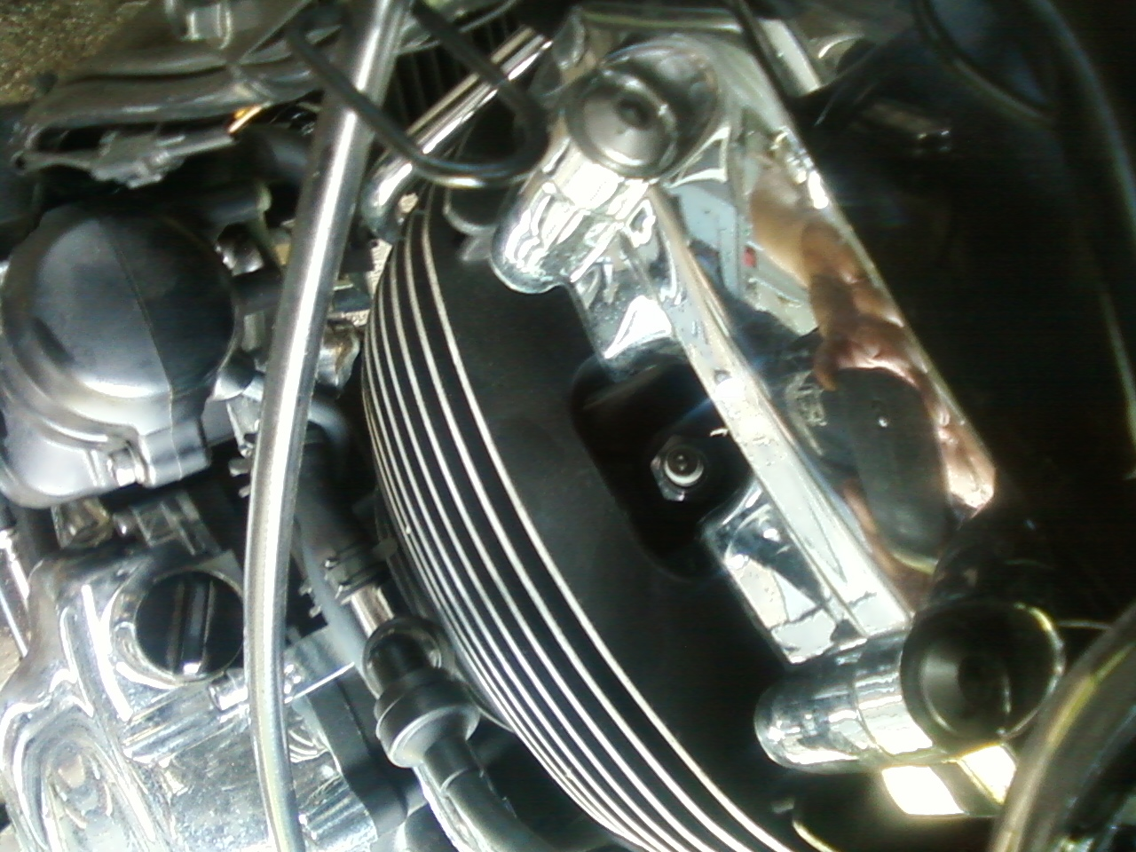 What Is A Spark Plug >> 2006 V-Star 650 Basic oil and plug change.