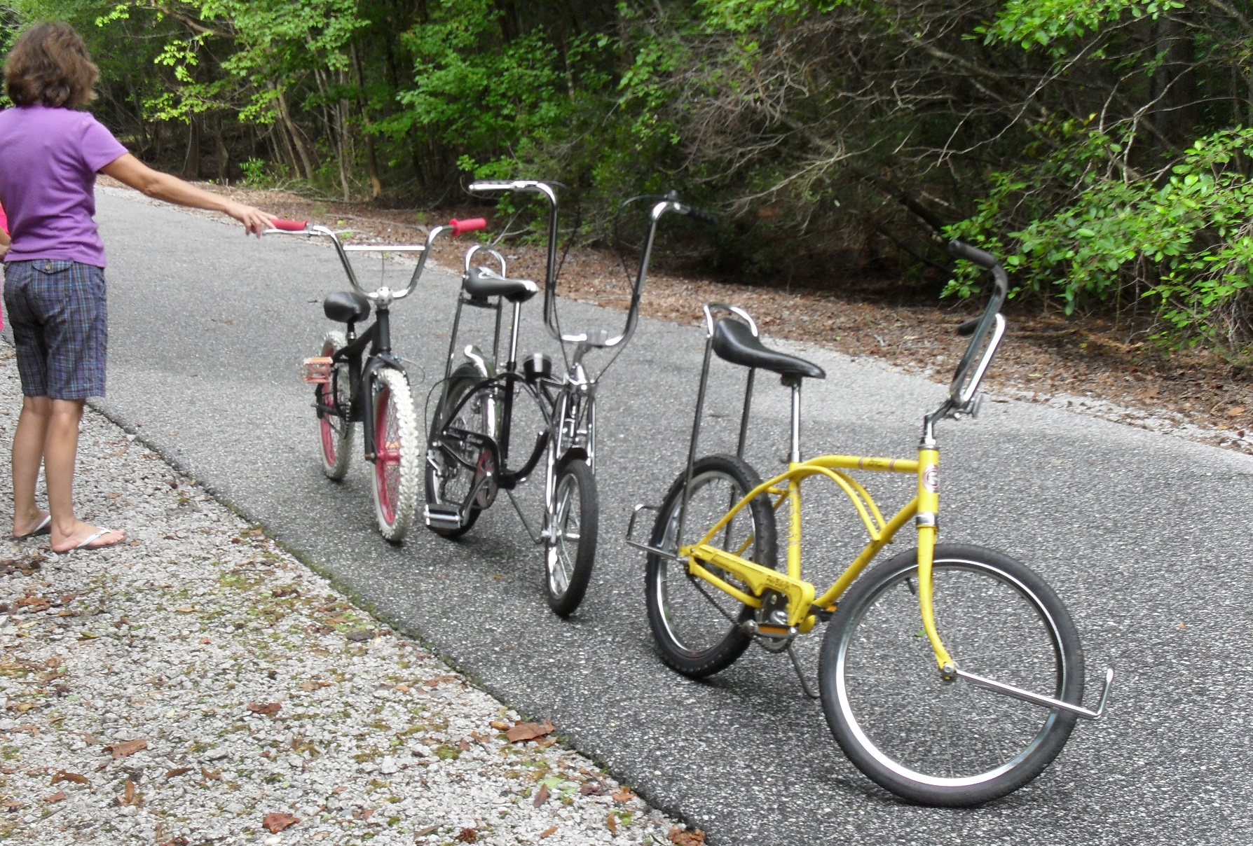 3 Wheeled Motorcycles >> Riding Kiddie Bikes on the Rail Trail in Florence S.C. - Motopsyco's Asylum Crazy about motorcycles!