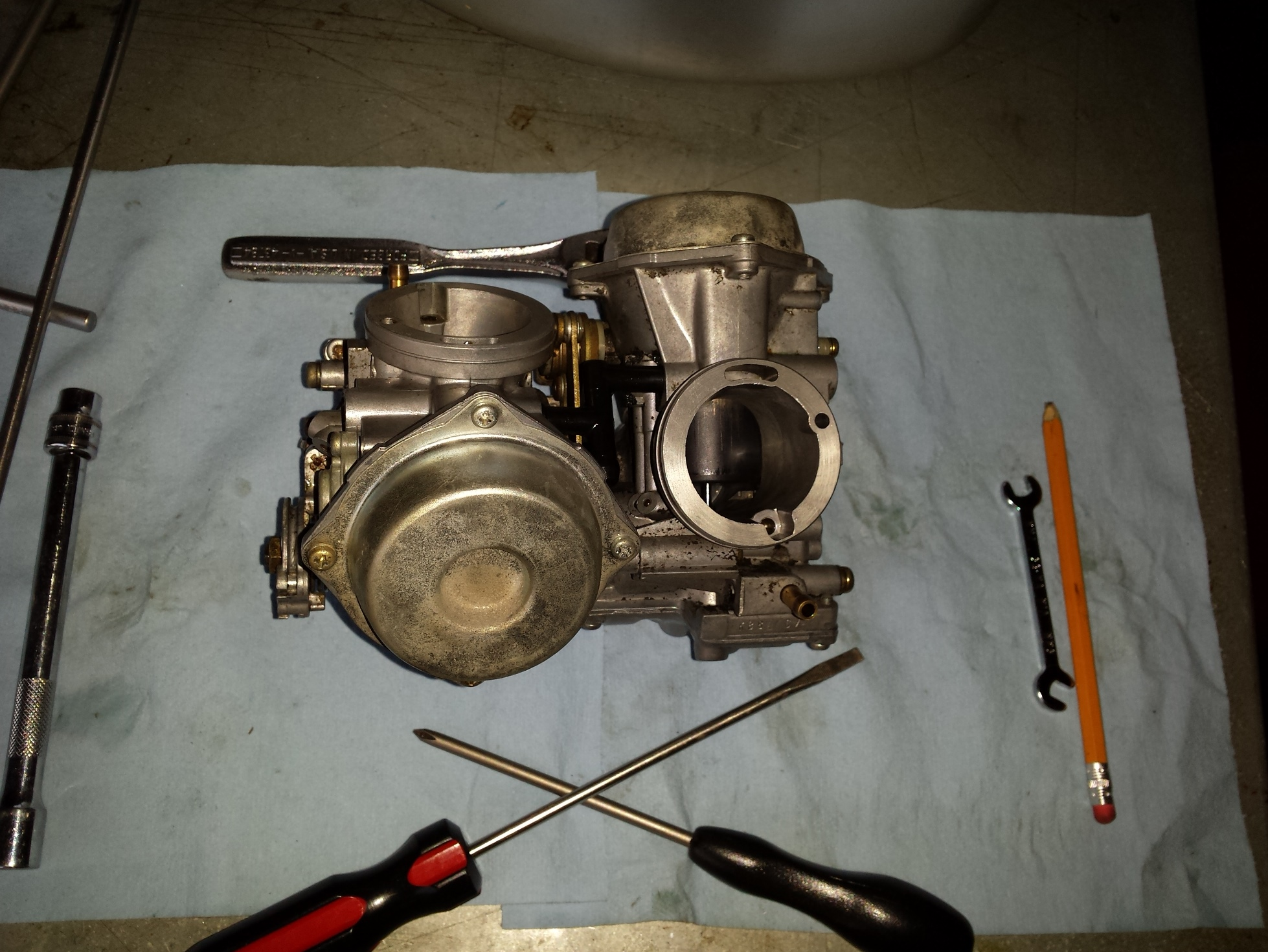 honda shadow  carb cleaning jetting part